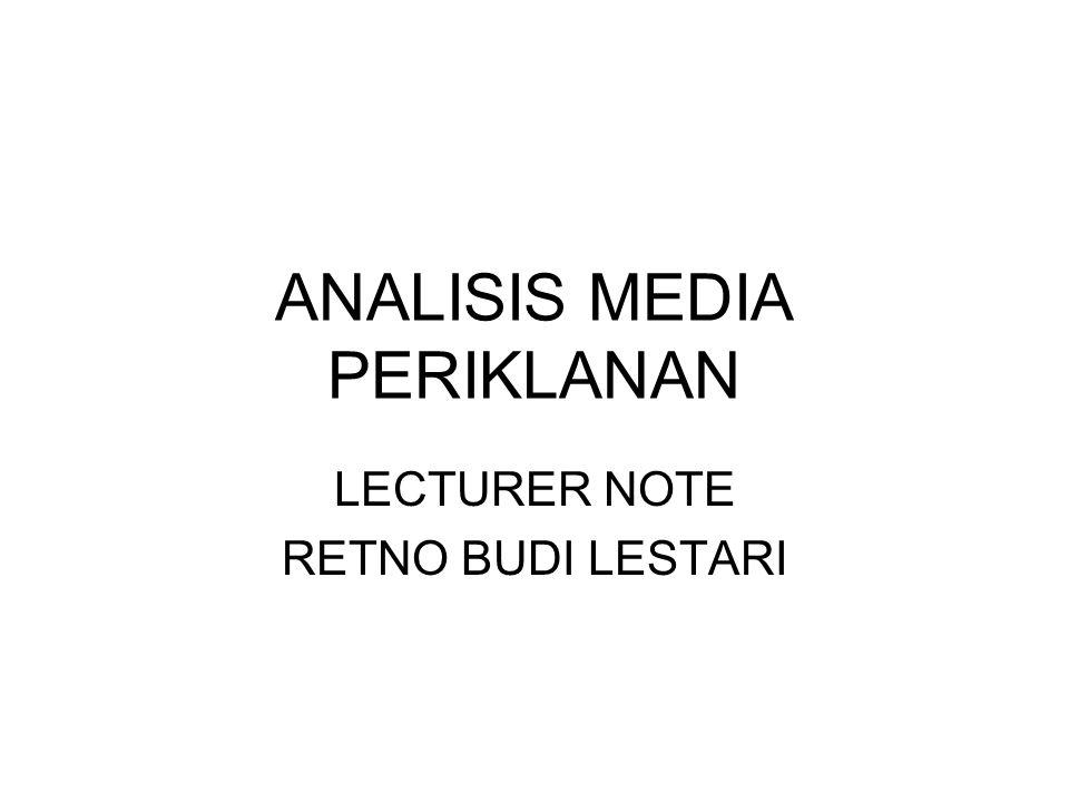 ANALISIS MEDIA PERIKLANAN