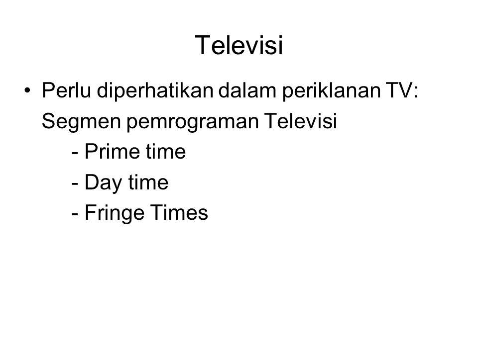 Televisi Perlu diperhatikan dalam periklanan TV: