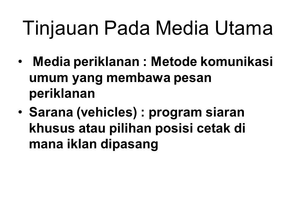 Tinjauan Pada Media Utama