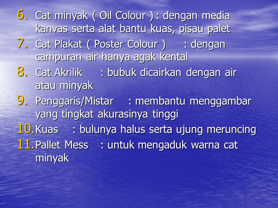 Cat minyak ( Oil Colour )
