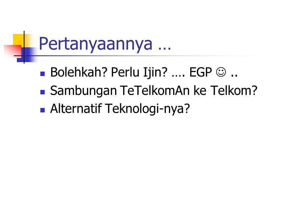 Pertanyaannya … Bolehkah Perlu Ijin …. EGP  ..