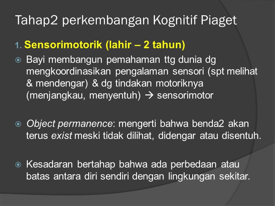 Tahap2 perkembangan Kognitif Piaget