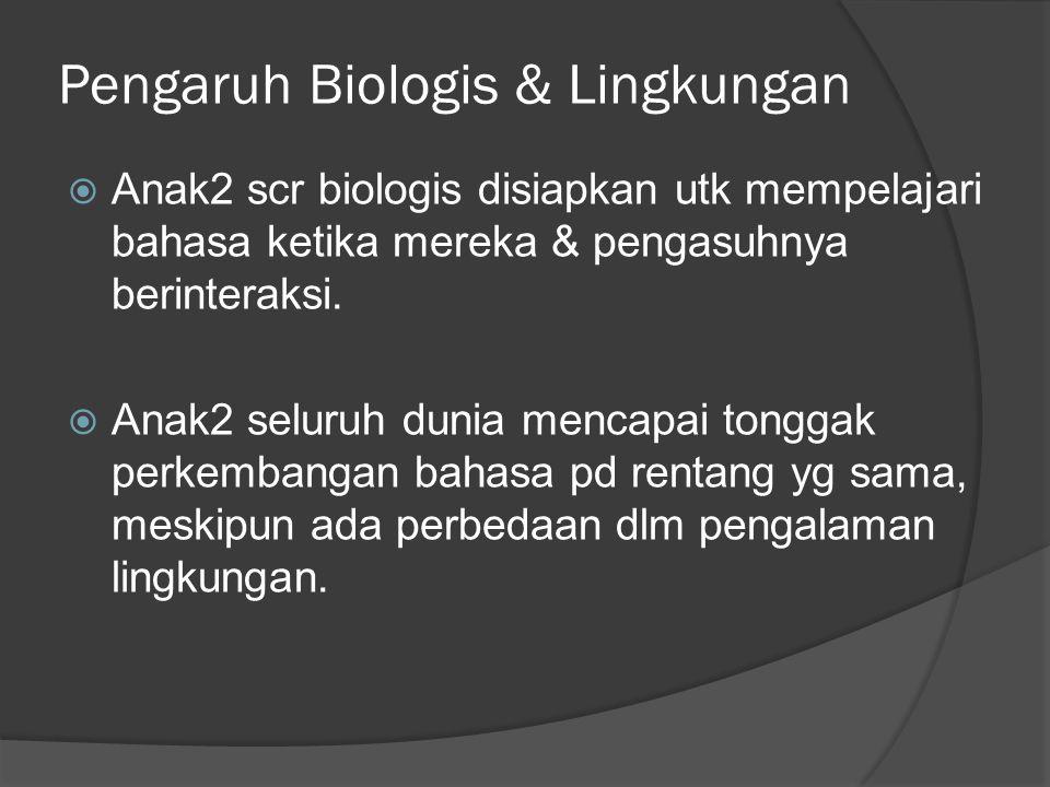 Pengaruh Biologis & Lingkungan