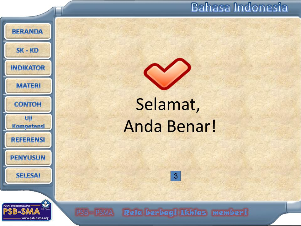 Selamat, Anda Benar! 3