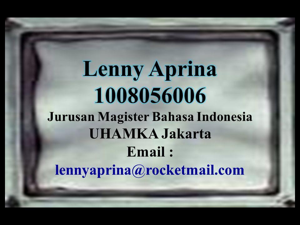 Jurusan Magister Bahasa Indonesia