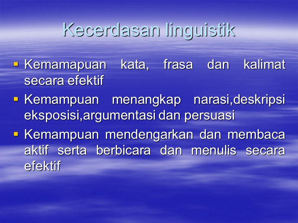 Kecerdasan linguistik