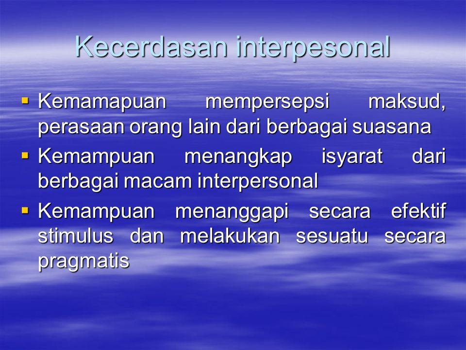 Kecerdasan interpesonal
