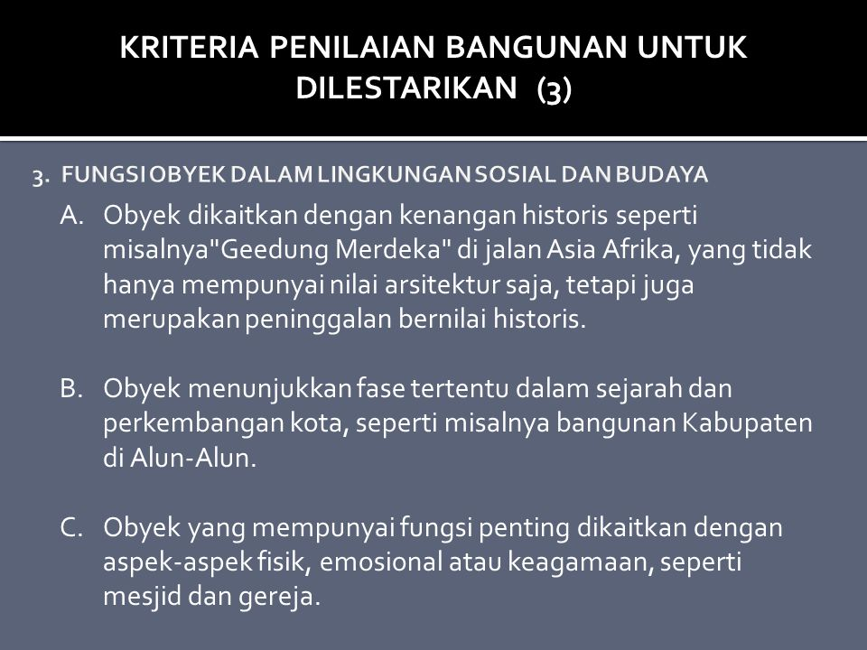3. FUNGSI OBYEK DALAM LINGKUNGAN SOSIAL DAN BUDAYA