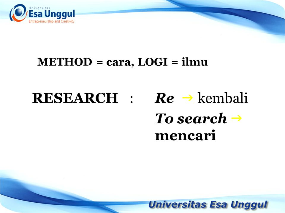 METHOD = cara, LOGI = ilmu