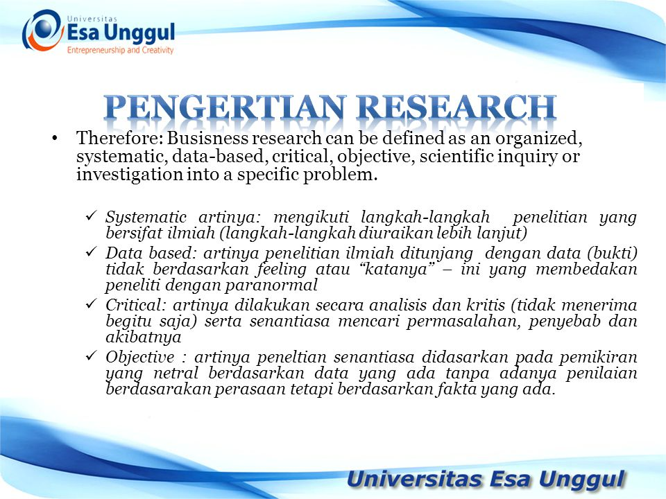 PENGERTIAN RESEARCH