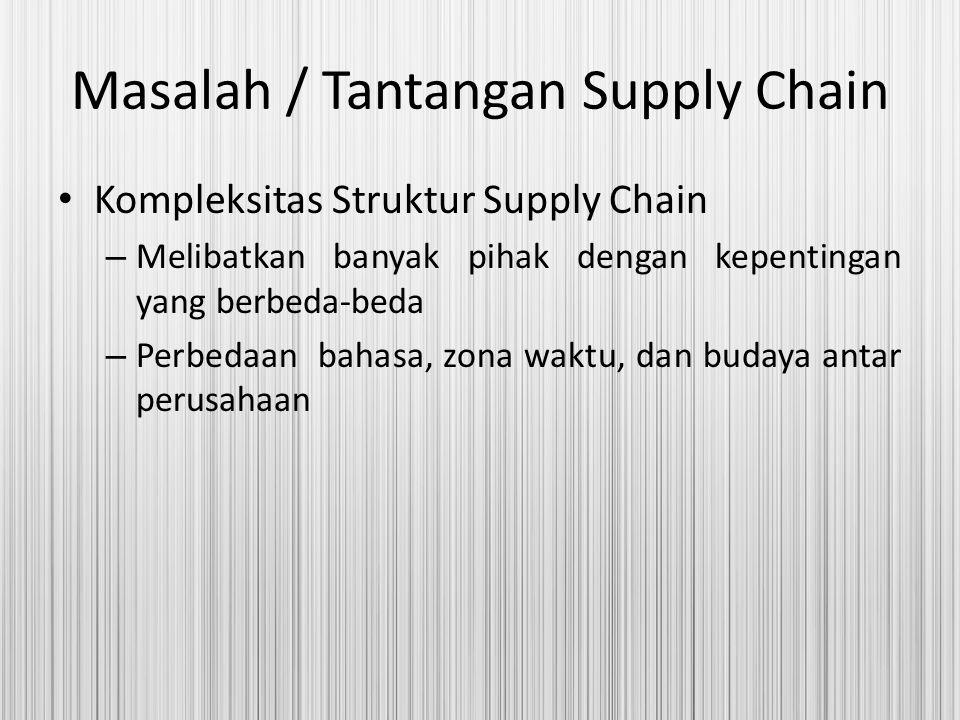 Masalah / Tantangan Supply Chain