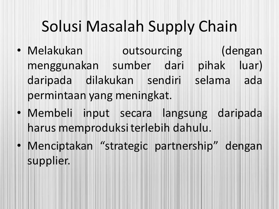 Solusi Masalah Supply Chain