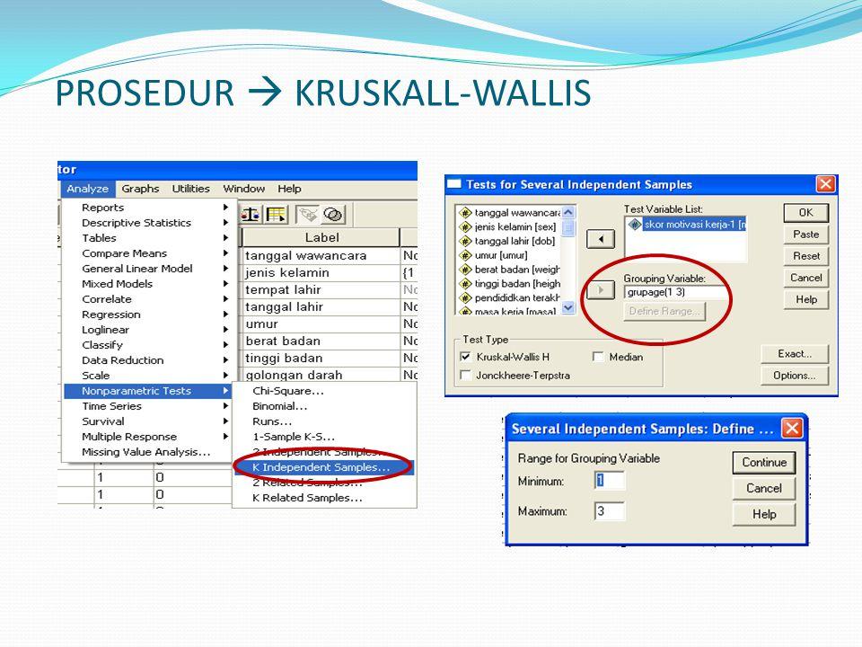 PROSEDUR  KRUSKALL-WALLIS
