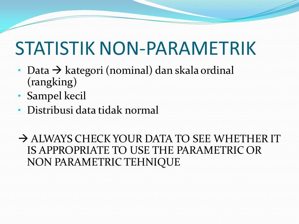 STATISTIK NON-PARAMETRIK