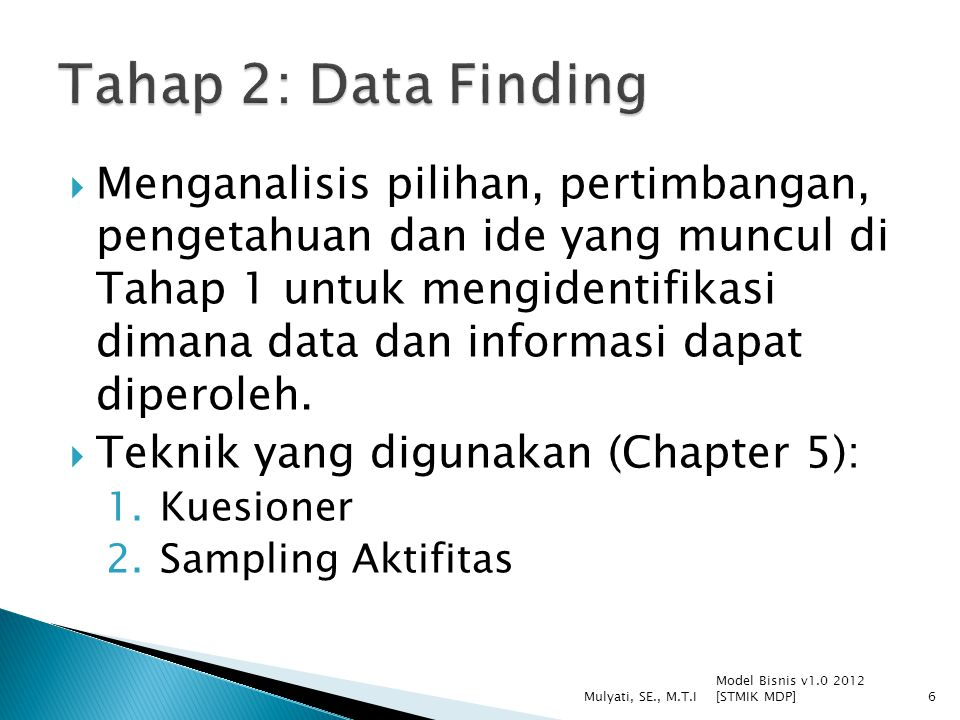 Tahap 2: Data Finding