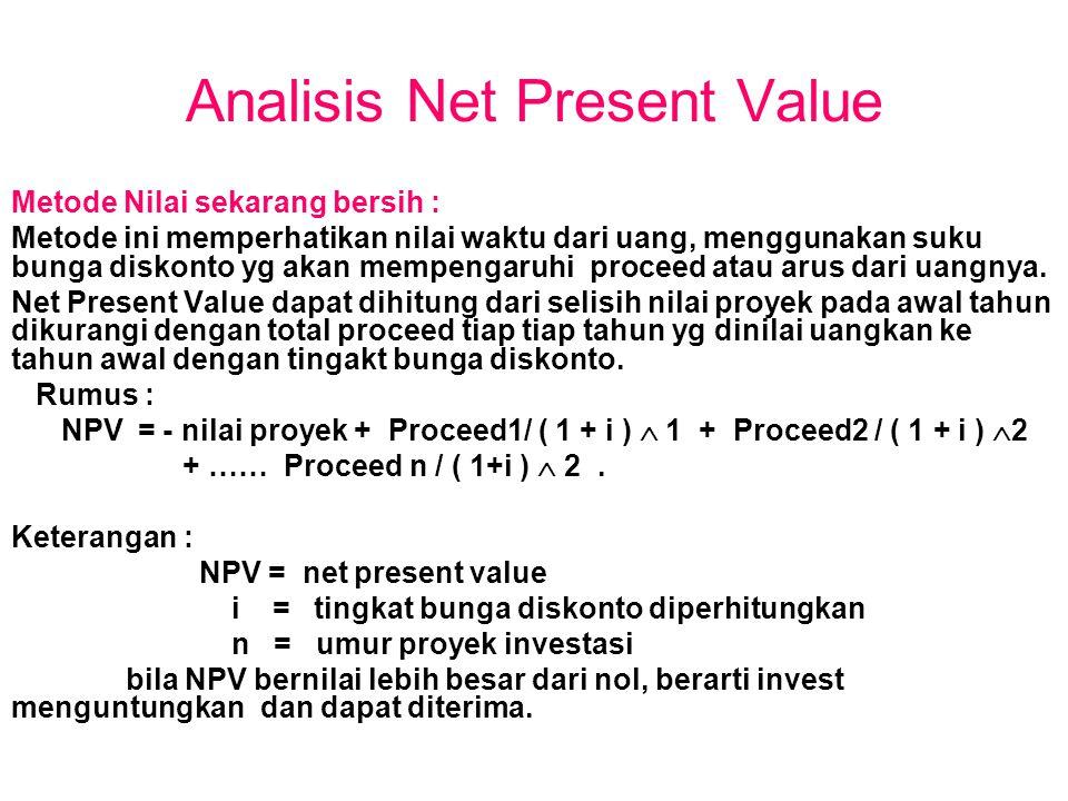 Analisis Net Present Value