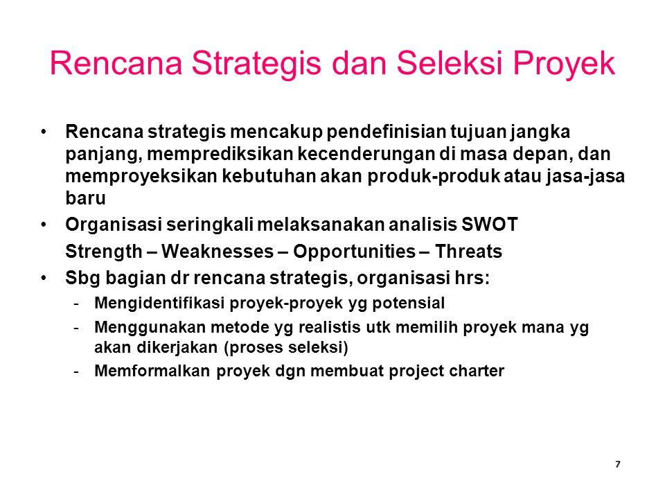 Rencana Strategis dan Seleksi Proyek