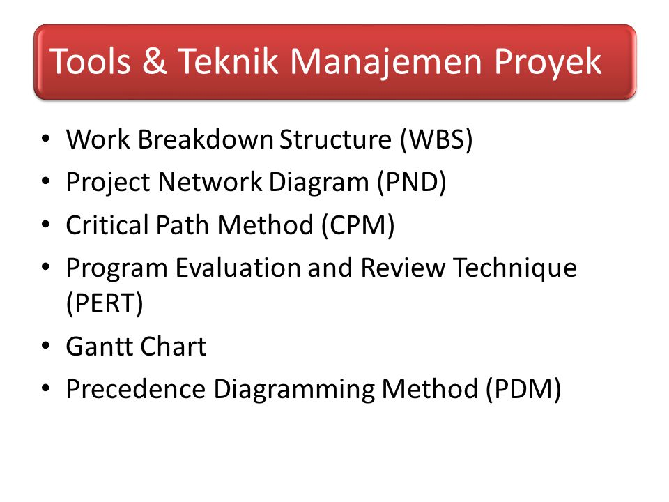 Work Breakdown Structure (WBS) Project Network Diagram (PND)