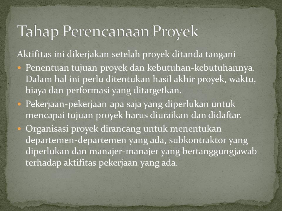 Tahap Perencanaan Proyek