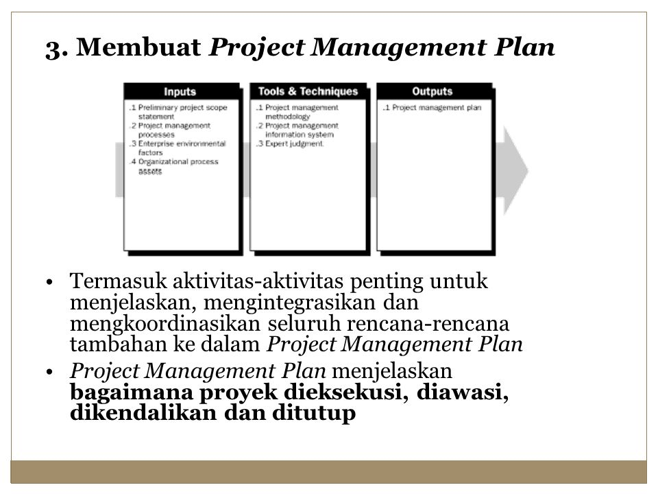 3. Membuat Project Management Plan