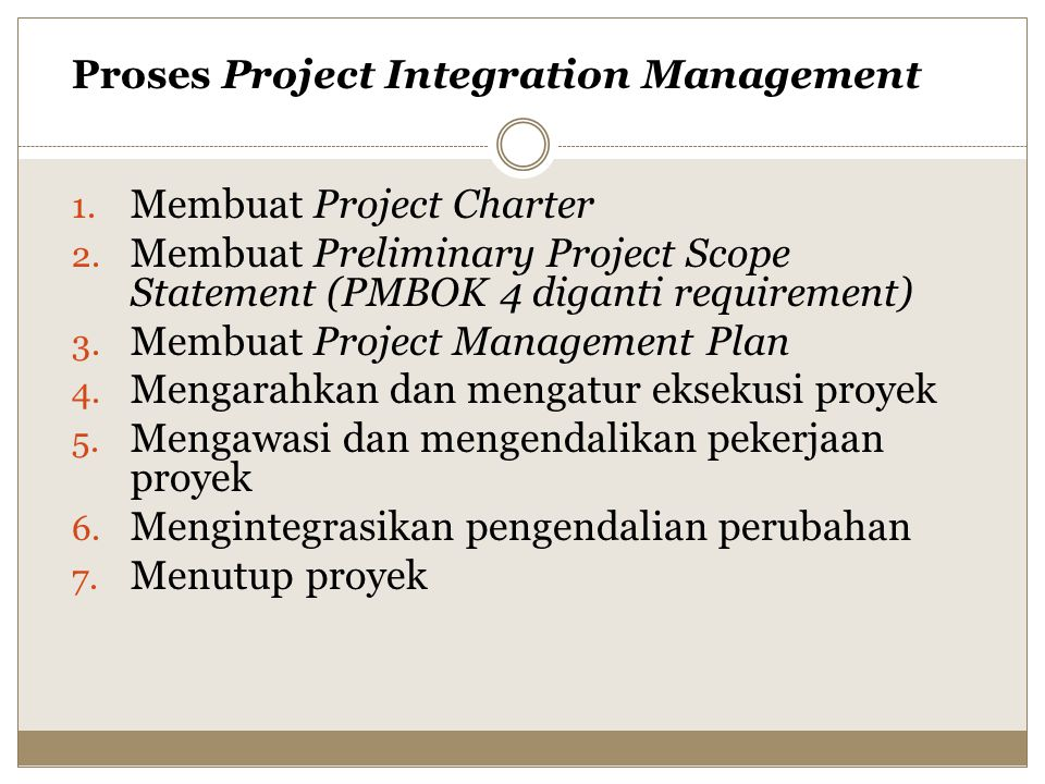 Proses Project Integration Management