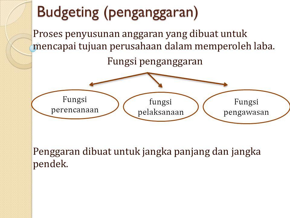 Budgeting (penganggaran)