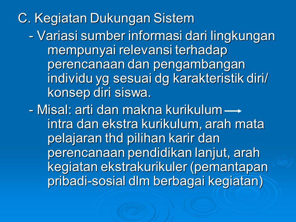 C. Kegiatan Dukungan Sistem