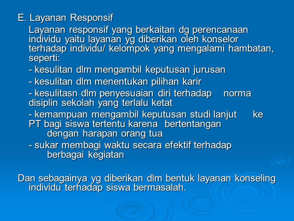 E. Layanan Responsif