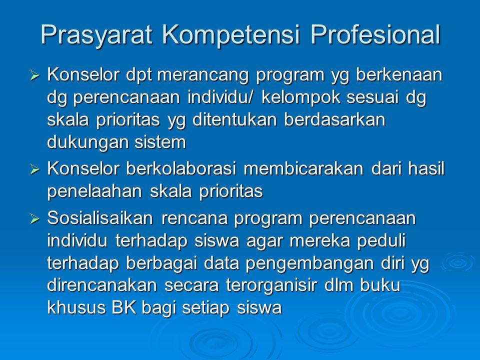 Prasyarat Kompetensi Profesional