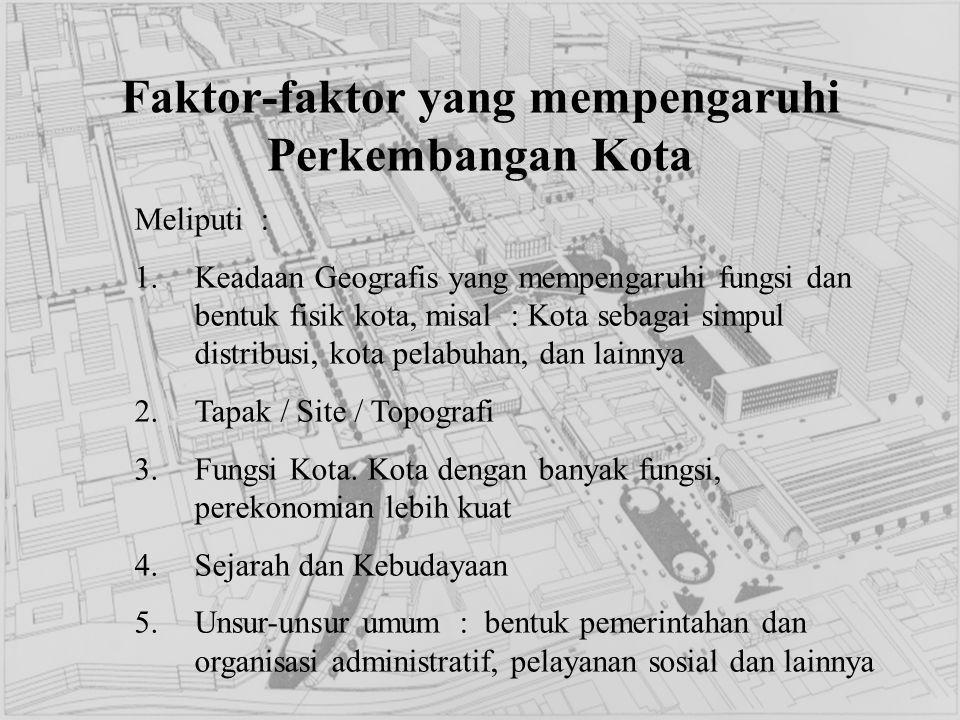 Faktor-faktor yang mempengaruhi Perkembangan Kota