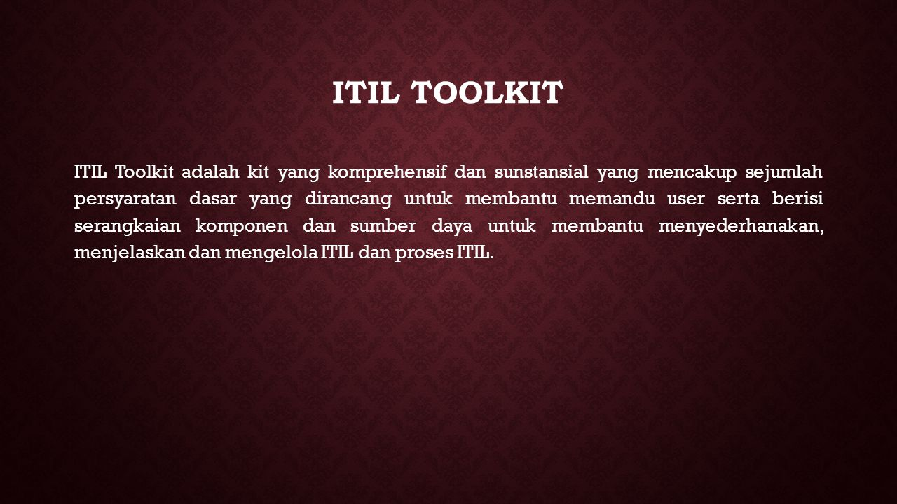 ITIL Toolkit