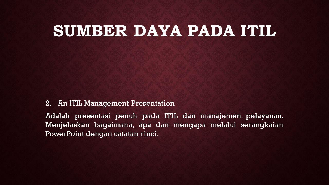 sumber daya pada ITIL An ITIL Management Presentation