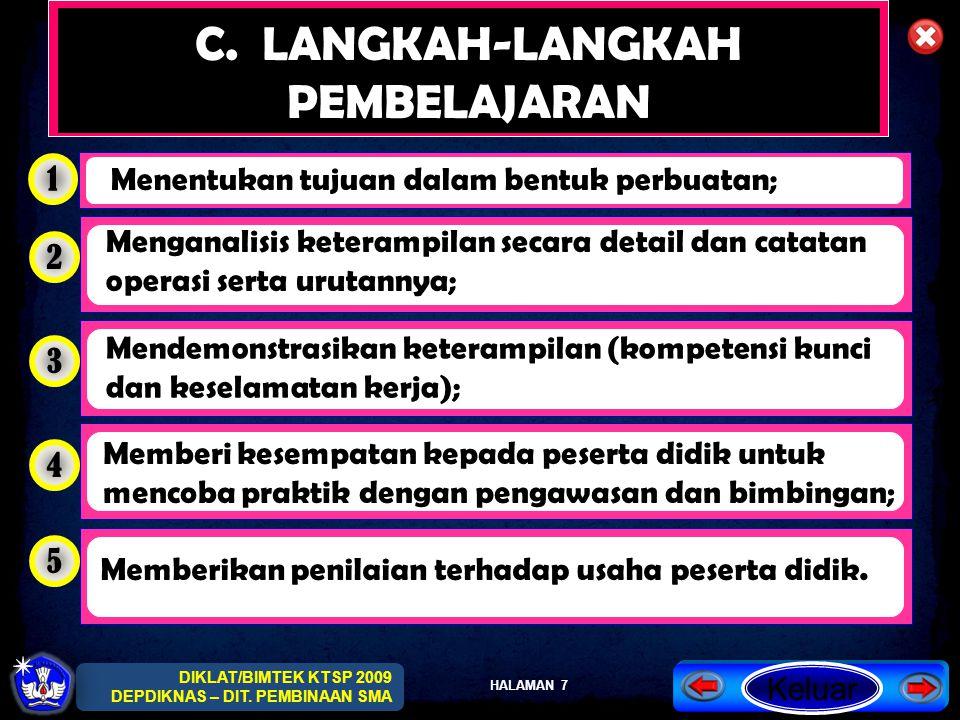 C. LANGKAH-LANGKAH PEMBELAJARAN