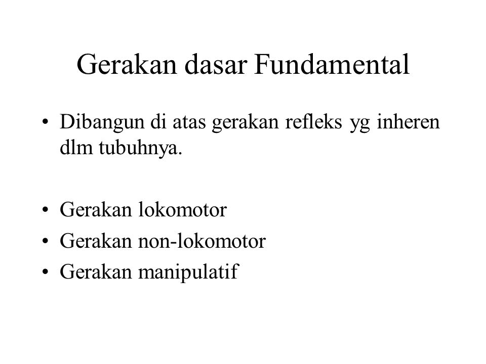 Gerakan dasar Fundamental