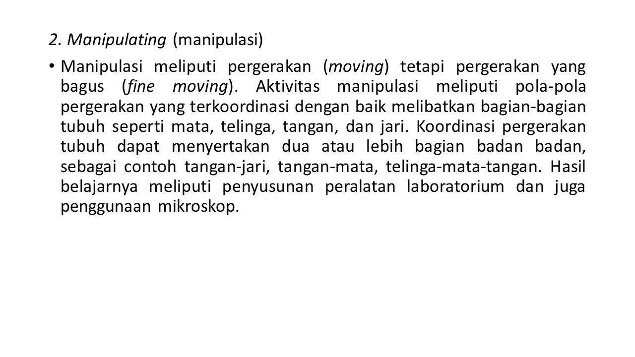 2. Manipulating (manipulasi)