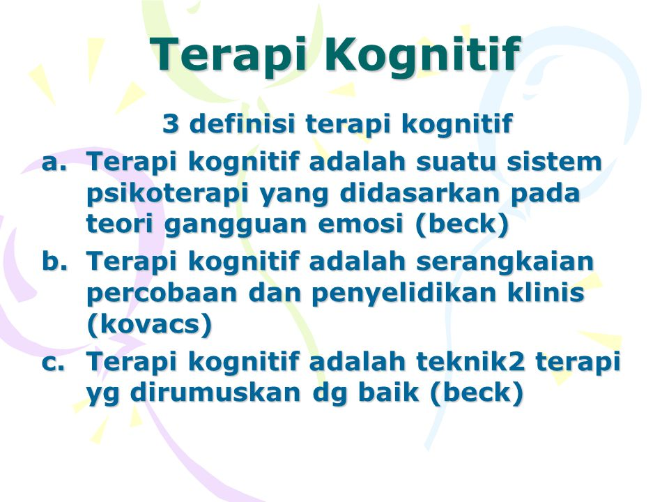 3 definisi terapi kognitif
