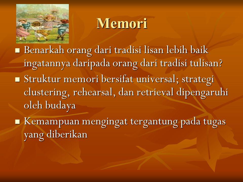 Memori Benarkah orang dari tradisi lisan lebih baik ingatannya daripada orang dari tradisi tulisan