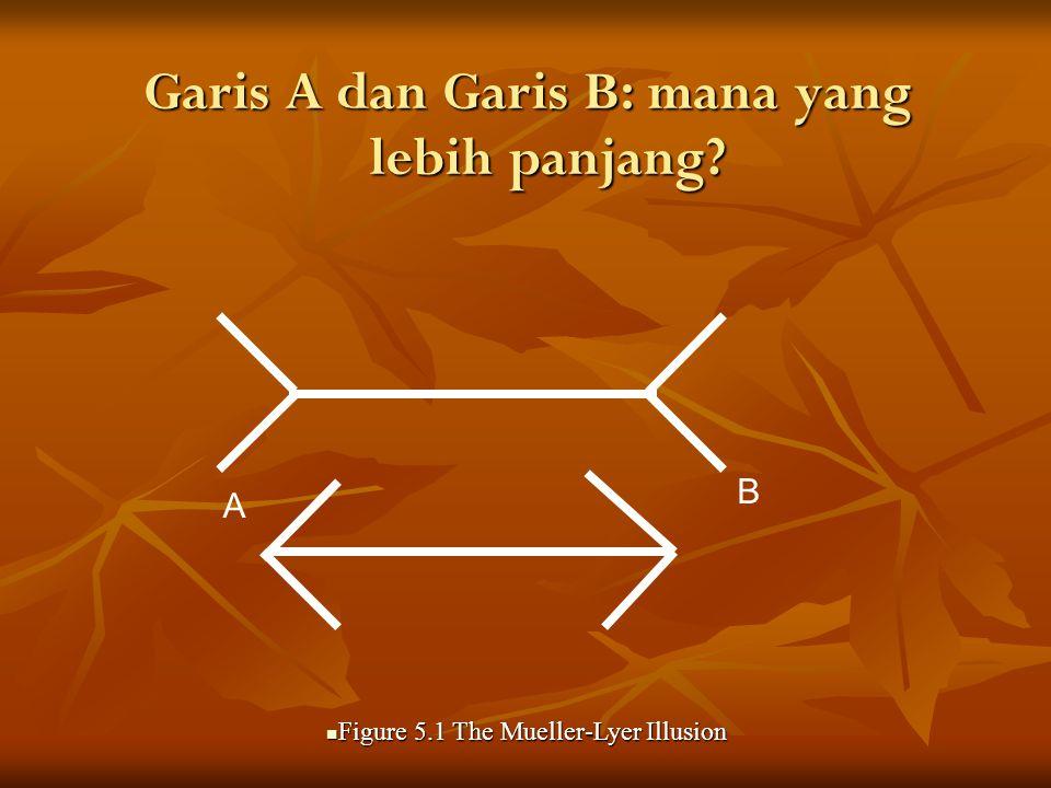 Garis A dan Garis B: mana yang lebih panjang