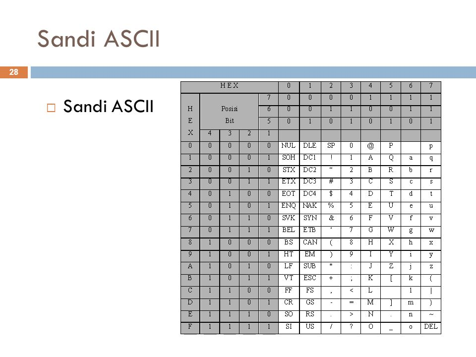 Sandi ASCII Sandi ASCII