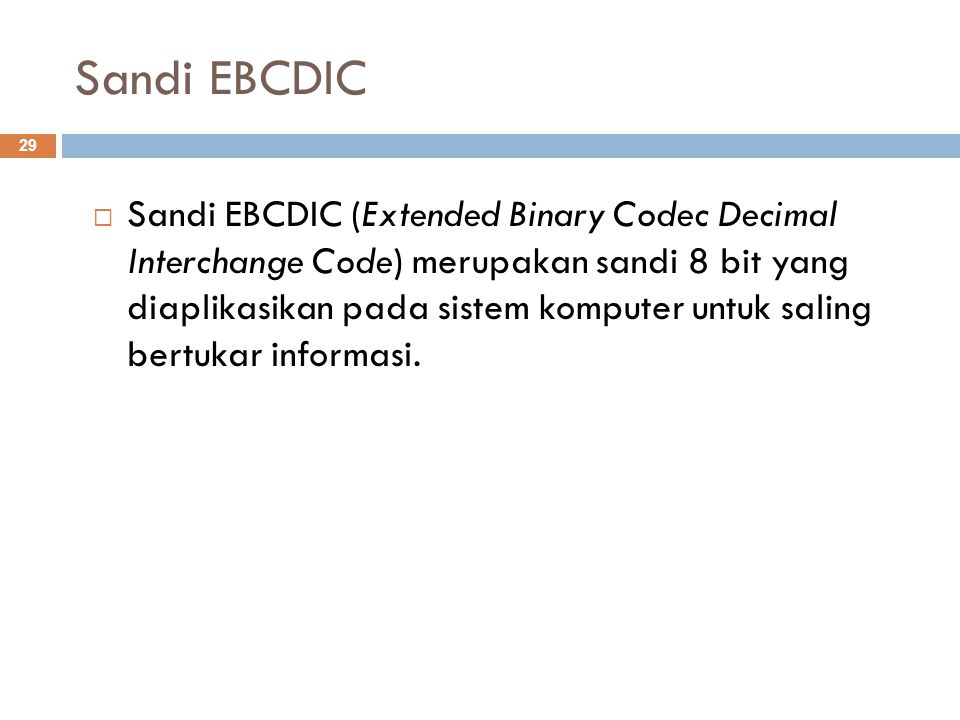Sandi EBCDIC