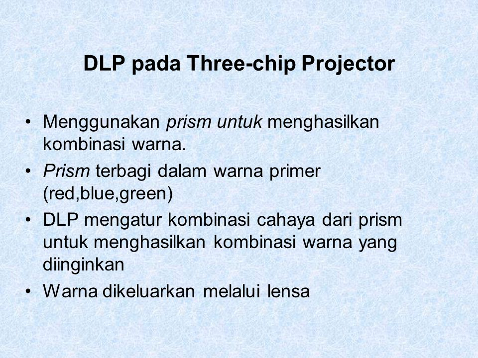 DLP pada Three-chip Projector