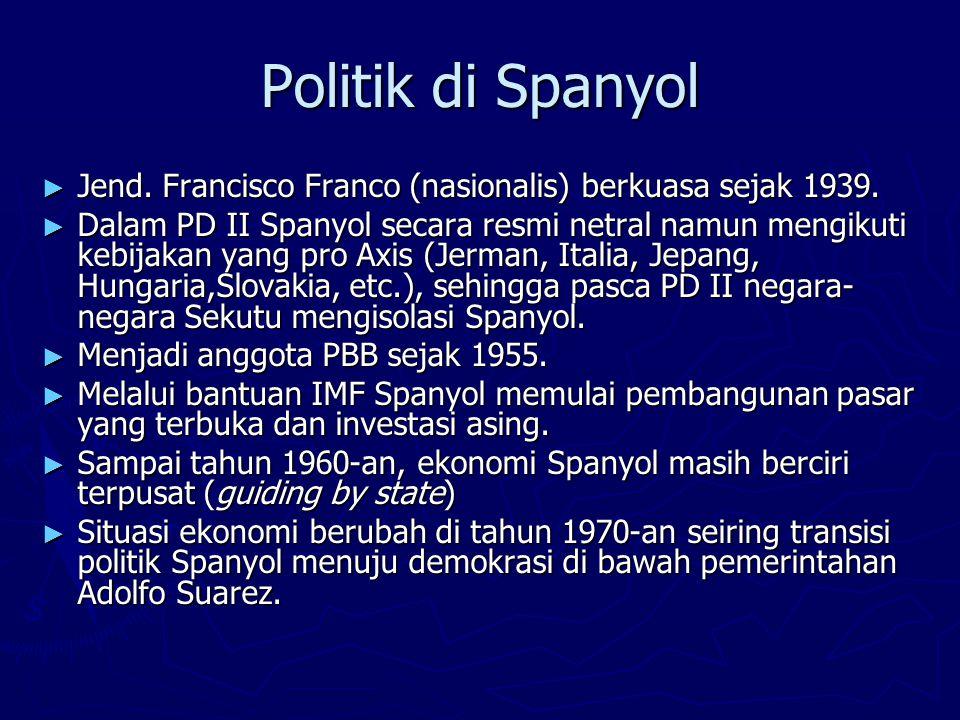Politik di Spanyol Jend. Francisco Franco (nasionalis) berkuasa sejak 1939.