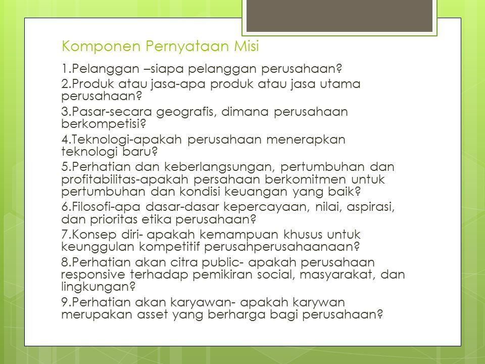 Komponen Pernyataan Misi