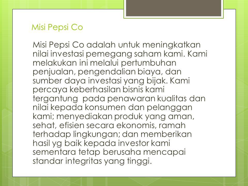 Misi Pepsi Co