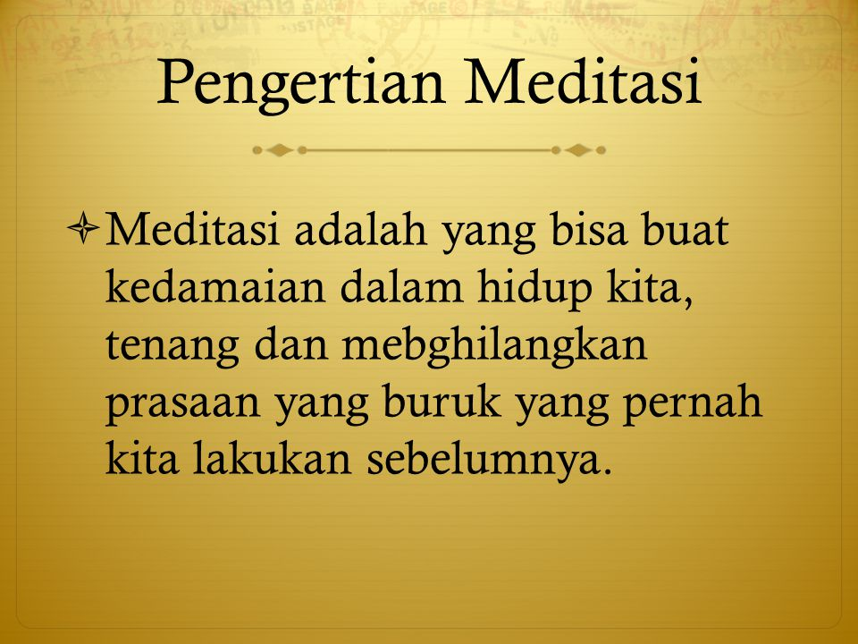 Pengertian Meditasi
