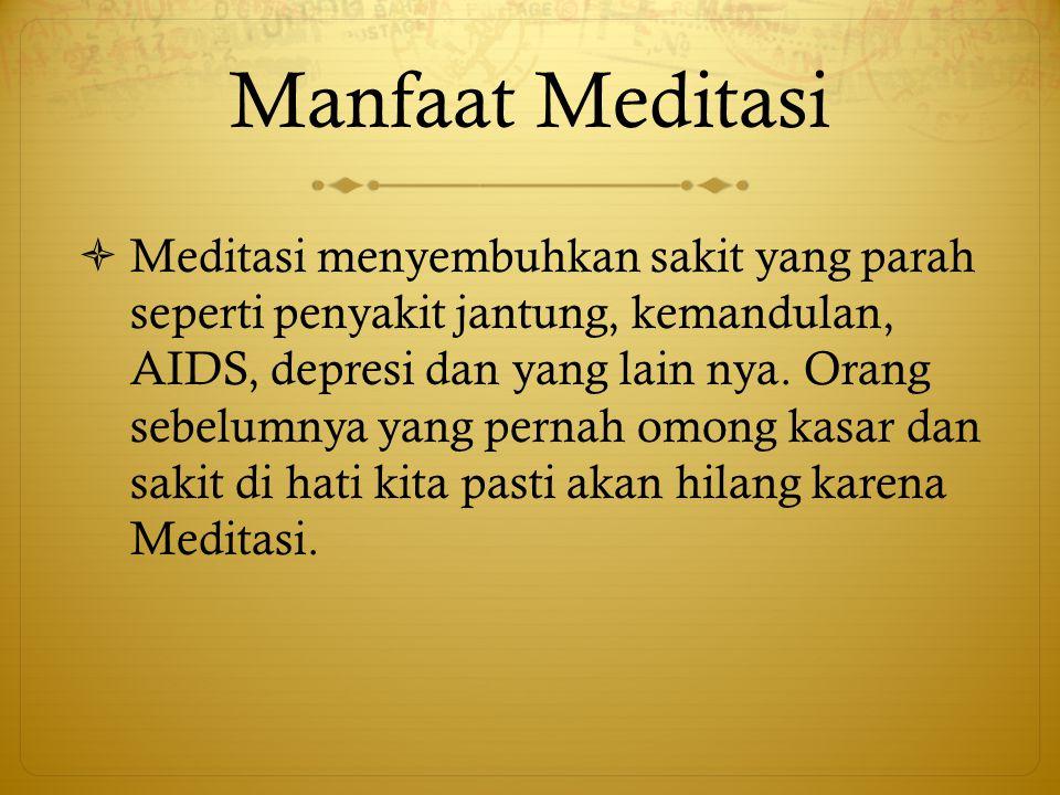 Manfaat Meditasi