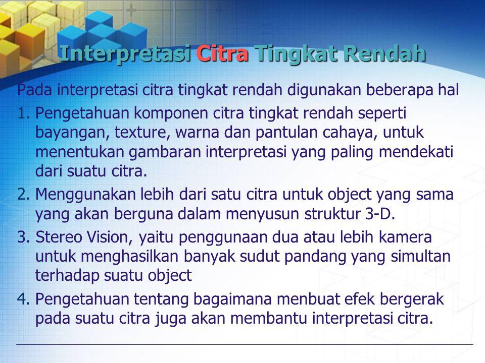 Interpretasi Citra Tingkat Rendah