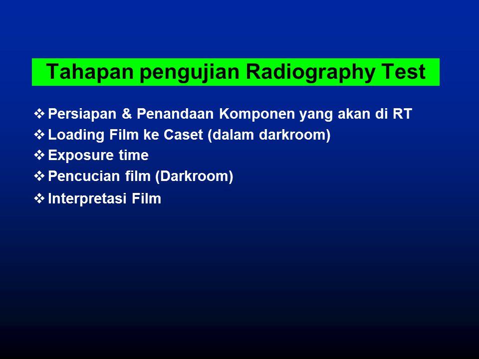 Tahapan pengujian Radiography Test