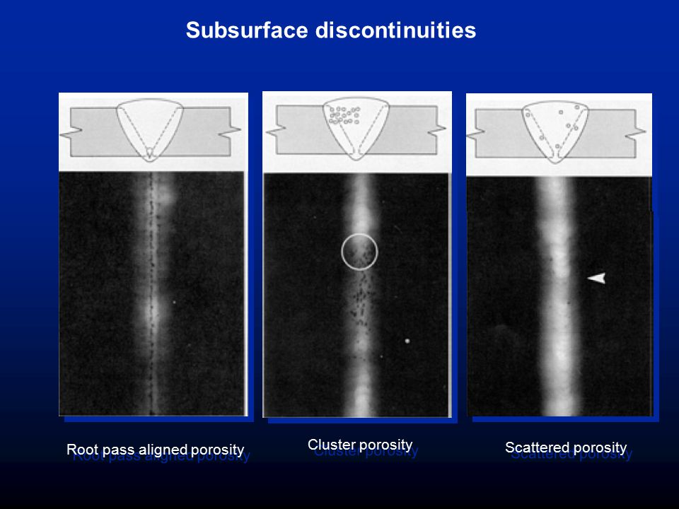 Subsurface discontinuities