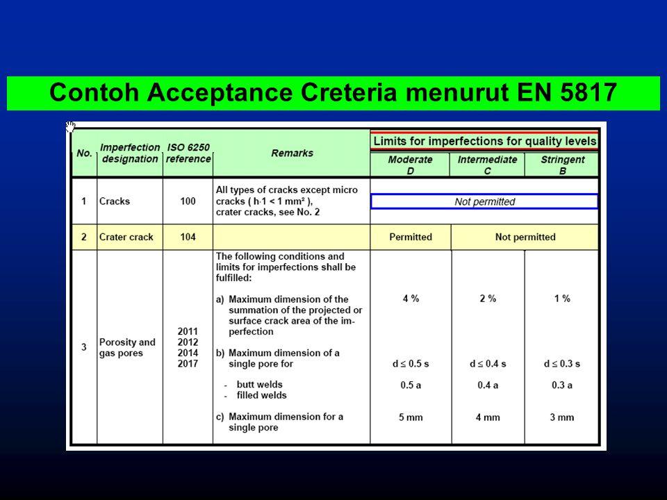Contoh Acceptance Creteria menurut EN 5817